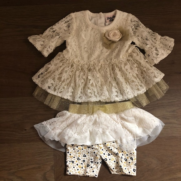 Other - 2 piece off white dress 6-9 months